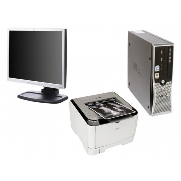 Nec ML460, Core 2 Duo, 2.4Ghz + Monitor 19 inci LCD + Imprimanta Ricoh Sp3400N