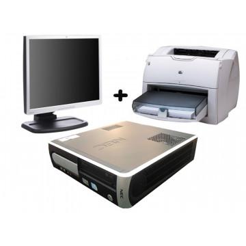 NEC VL350, Celeron 430, 1.8 ghz, 512mb, 80 gb, DVD + Monitor LCD 17 inci + Imprimanta HP 1300