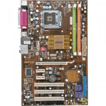 Placa de baza ATX MSI P41T-C31, Socket 775 +  procesor Intel Dual Core 2.60Ghz