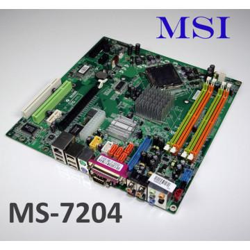 Placa de baza MSI MS-7204, LGA 775, DDR2, PCIe + Procesor Intel Pentim D 2.8Ghz