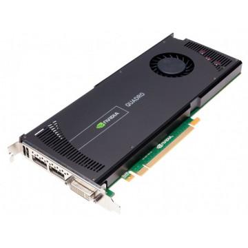 Placa video nVidia Quadro 4000, 2 GB GDDR5 256-bit, 1x DVI, 2x DisplayPort, PCI Express x16, Second Hand Componente Calculator
