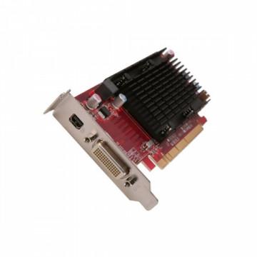 Placa video PCI-E ATI Radeon Card 6350 512MB, DMS-59, low profile design + Adaptor cablu video DMS 59 la 2 x VGA Componente Calculator
