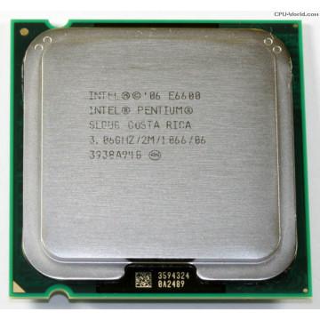 Procesor Intel Dual-Core E6600 3.06GHz, 1066 FSB, 2MB Cache Componente Calculator
