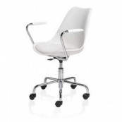 Scaun Office CUBETRADE FL20405 Model de Lux, Alb / Metal Scaune Office