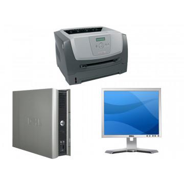 SFF Dell SX745, Celeron 3.06Ghz, 1Gb, 40Gb + Monitor LCD Dell 17 inci + Imprimanta laser E350D