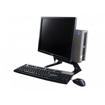 Sistem Dell OptiPlex 755 USFF, Intel Core 2 Duo E4600, 2.4Ghz, 1Gb DDR, 80Gb HDD, Combo + monitor Dell 1706FPvt