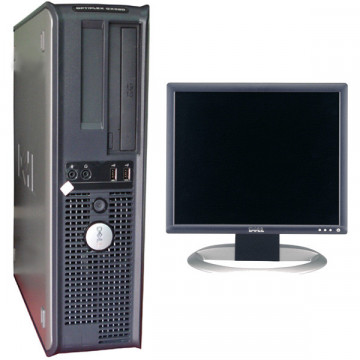 Sistem DELL OptiPlex Gx520, Intel P4 2800Mhz + Monitor DELL 1740fpv, 17 inci