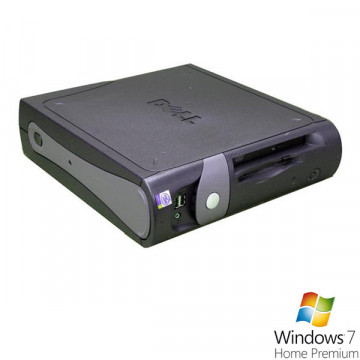 Sistem Desktop DELL GX270 SFF, Pentium 4, 2.8Ghz, 512Mb DDR, 40Gb HDD, 2 porturi Serial + Win 7 Premium Calculatoare Second Hand