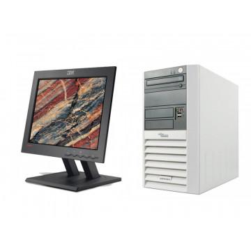 Sistem Desktop Fujitsu P5600, AMD Sempron 3000+, 1.8Ghz, 1Gb, 40Gb HDD, DVD-ROM + monitor 15 inch LG / IBM