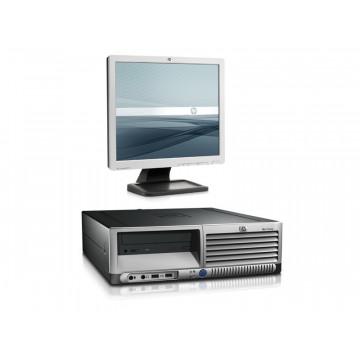 Sistem Desktop HP DC 7700 SFF, Dual Core, 2.8Ghz, 1Gb, 80Gb, DVD-ROM + LCD 17 inci Diverse Modele