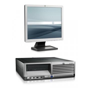 Sistem Desktop HP DC7600, Intel Pentim 4, 3.0Ghz, 2Gb DDR2, 80Gb SATA, DVD-ROM + Monitor LCD 17 inci Diverse Modele Calculatoare Second Hand