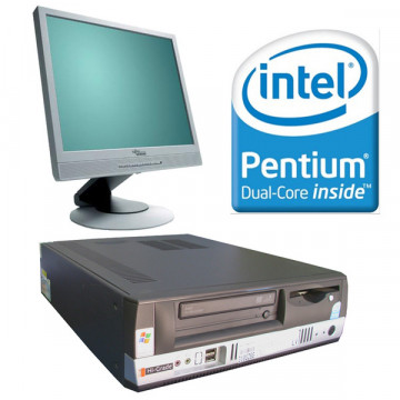 Sistem Desktop Intel Pentium Dual Core E2140, 1.6 ghz, 1gb, 80 gbb + LCD 17 inci