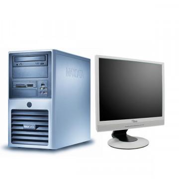 Sistem Desktop Maxdata, Core 2 Duo E6420, 2.13Ghz, 2Gb DDR2, 160Gb, DVD-RW + Monitor LCD 17 inci