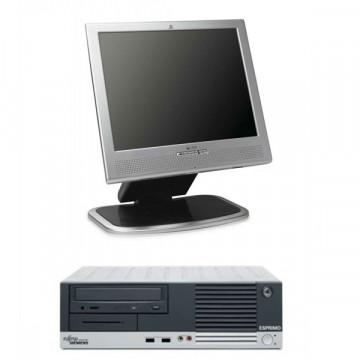 Sistem Fujitsu Siemens E5600, AMD Sempron 3000+,  1.8ghz, 512mb, 80gb + Monitor HP1530, LCD 15 inci
