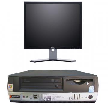 Sistem Intel Celeron 430, 1.8 ghz, 512 mb, 80 gb, DVD-ROM + Monitor 17 inci LCD + Imprimanta Laser HP 1300
