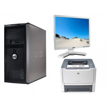 Sistem Office Dell 755, Core 2 Duo E6550, 2.33Ghz + LCD Dell 1908Fpb + Imprimanta HP P2015