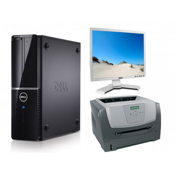 Sistem Office Dell Vostro 220S, Core 2 Duo E8400, 3.0Ghz + Monitor Dell 1908Fpb + Lexmark E350D