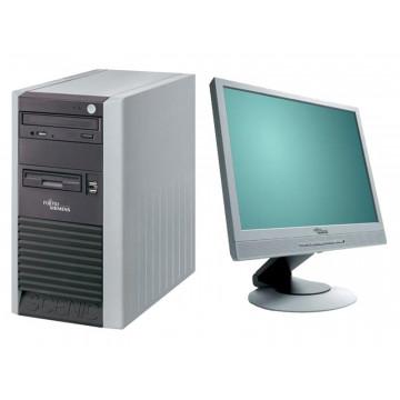 Sisteme Desktop Fujitsu P300, Celeron 2.6Ghz, 1Gb, 80Gb + Monitor LCD 17 inci Grad A lux