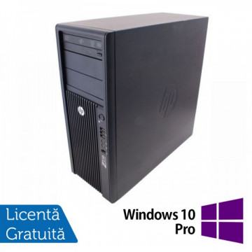 Statie Grafica HP Z210, Intel Xeon E3-1240, 3.3 Ghz, 8Gb DDR3, 250Gb HDD, DVD-ROM + Windows 10 Pro Workstation