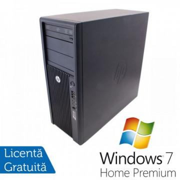 Statie Grafica HP Z210, Intel Xeon E3-1240, 3.3 Ghz, 8Gb DDR3, 250Gb HDD, DVD-ROM + Windows 7 Home Premium Workstation