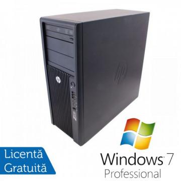 Statie Grafica HP Z210, Intel Xeon E3-1240, 3.3 Ghz, 8Gb DDR3, 250Gb HDD, DVD-ROM + Windows 7 Professional Workstation