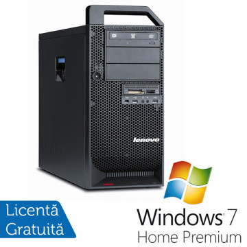 Statie Grafica Lenovo ThinkStation D20, Intel Xeon Quad Core E5640 2.66Ghz, 16Gb DDR3, 500Gb HDD, DVD-RW + Win 7 Premium Calculatoare Refurbished
