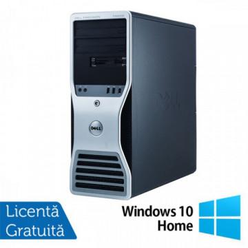 Statie grafica Refurbished Dell Precision T7500 Tower, 2x Intel Xeon X5660 HEXA CORE 2.8GHz - 3.2GHz, 48GB Ram DDR3, 2 x 120GB SSD NOU + 2 x 2TB SATA HDD, DVD-RW, placa video Nvidia Quadro NVS300 512MB GDDR3 + Windows 10 Home Calculatoare Refurbished