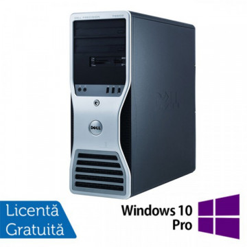 Statie grafica Refurbished Dell Precision T7500 Tower, 2x Intel Xeon X5660 HEXA CORE 2.8GHz - 3.2GHz, 48GB Ram DDR3, 2 x 120GB SSD NOU + 2 x 2TB SATA HDD, DVD-RW, placa video Nvidia Quadro NVS300 512MB GDDR3 + Windows 10 Pro Calculatoare Refurbished