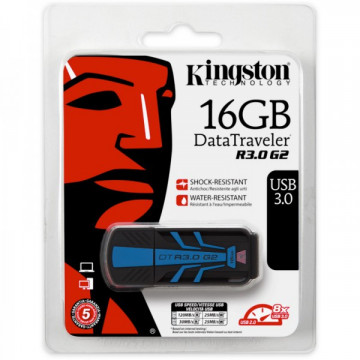 Stick memorie Kingston 16 GB DataTraveler R30G2, USB 3.0, Negru Periferice
