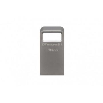 Stick memorie Kingston 16GB DTMicro USB 3.1-3.0 Metal Ultra Compact Periferice