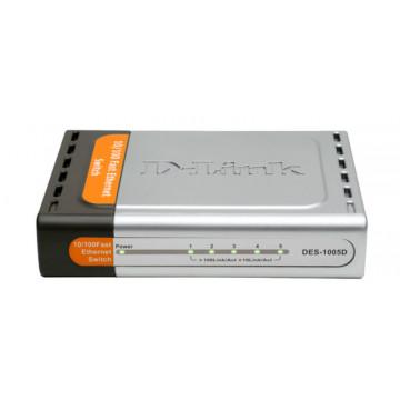 Switch 5 porturi 10/100, D-link DES 1005D Retelistica