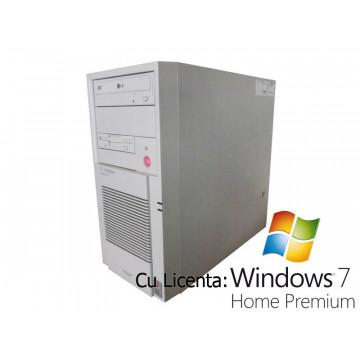 T-Systems MicroTower 35, Core 2 Duo E6300, 1.86Ghz, 2Gb, 160Gb, DVD-ROM + Win 7 Home Calculatoare Second Hand