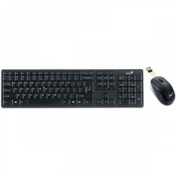 Tastatura + Mouse Genius SlimStar 8000ME, USB, Wireless, Negru Periferice