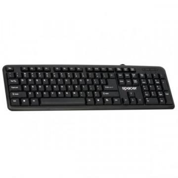 Tastatura Spacer SPKB-520, Antistropi, USB, Negru  Periferice