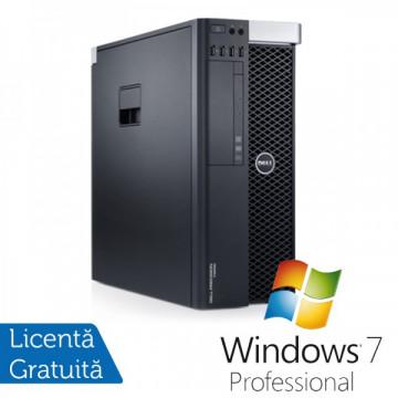 Workstation DELL Precision T3600 Intel Xeon Hexa Core E5-1650 3.20GHz-3.80 GHz, 16 GB DDR3 ECC, 1 TB HDD SATA + 240GB SSD, Nvidia Quadro 2000/1GB/GDDR5/128biti + Windows 7 Professional Calculatoare Refurbished