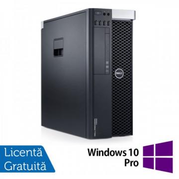 Workstation DELL Precision T3600 Intel Xeon Hexa Core E5-1650 3.20GHz-3.80 GHz, 16 GB DDR3 ECC, 1 TB HDD SATA, Nvidia Quadro 2000/1GB/GDDR5/128biti + Windows 10 Pro Calculatoare Refurbished