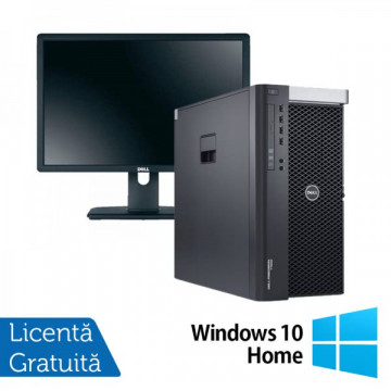 Workstation DELL Precision T3600 Intel Xeon Hexa Core E5-1650 3.20GHz-3.80GHz, 16 GB DDR3 ECC, 1 TB HDD SATA, Nvidia Quadro 2000 + Windows 10 Home + Monitor Profesional DELL P2213T Oferte Pachete IT