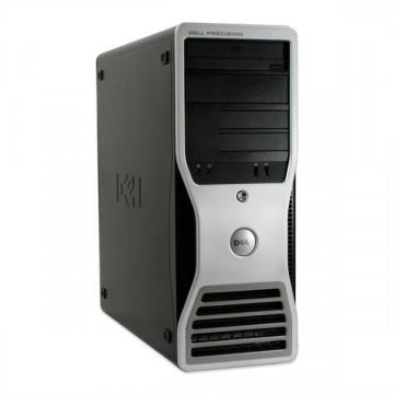 Workstation DELL Precision T5400, Intel Xeon Quad Core E5450, 3.00GHz, 2Gb DDR2 FBD, 250Gb SATA, DVD-ROM, NVIDIA Quadro FX 380 Calculatoare Second Hand