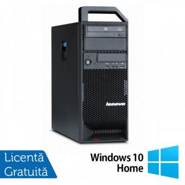 Workstation Lenovo ThinkStation S20 Tower, Intel Xeon Quad Core W3540 2.93Ghz, 8Gb DDR3, 500GB HDD, DVD-RW + Windows 10 Home Workstation