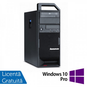 Workstation Lenovo ThinkStation S20 Tower, Intel Xeon Quad Core W3540 2.93Ghz, 8Gb DDR3, 500GB HDD, DVD-RW + Windows 10 Pro Workstation