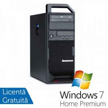 Workstation Lenovo ThinkStation S20 Tower, Intel Xeon Quad Core W3540 2.93Ghz, 8Gb DDR3, 500GB HDD, DVD-RW + Windows 7 Home Premium Workstation