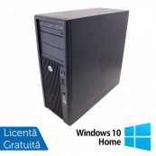 Workstation Refurbished HP Z210, Intel Xeon Quad core E3-1240, 3.3 Ghz-3.70GHz, 4GB DDR3, 500GB HDD, DVD-ROM, nVidia Quadro NVS 300/512MB + Windows 10 Home Workstation