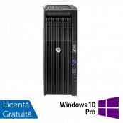 Workstation Refurbished HP Z620, 2x Intel Xeon DECA Core E5-2680 V2 2.8GHz-3.6GHz, 64GB DDR3 ECC, 512GB SSD NOU + 2TB HDD SATA, nVidia Quadro K2200/4GB GDDR5 + Windows 10 Pro Workstation