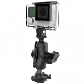 RAM® Ball Adapter for GoPro® Bases with Universal Action Camera Adapter Software & Diverse
