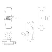 RAM Double Socket Arm