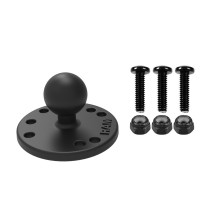 RAM® Round Plate with Ball & Mounting Hardware for Garmin Striker + More