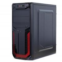 Sistem PC Gaming, Intel Pentium G3260 3.30GHz, 16GB DDR3, 120GB SSD + 1TB SATA, Placa video RX 470 8GB GDDR5, DVD-RW, CADOU Tastatura + Mouse