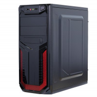 Sistem PC Gaming, Intel Pentium G3260 3.30GHz, 16GB DDR3, 2TB SATA, Placa video RX 470 8GB GDDR5, DVD-RW, CADOU Tastatura + Mouse