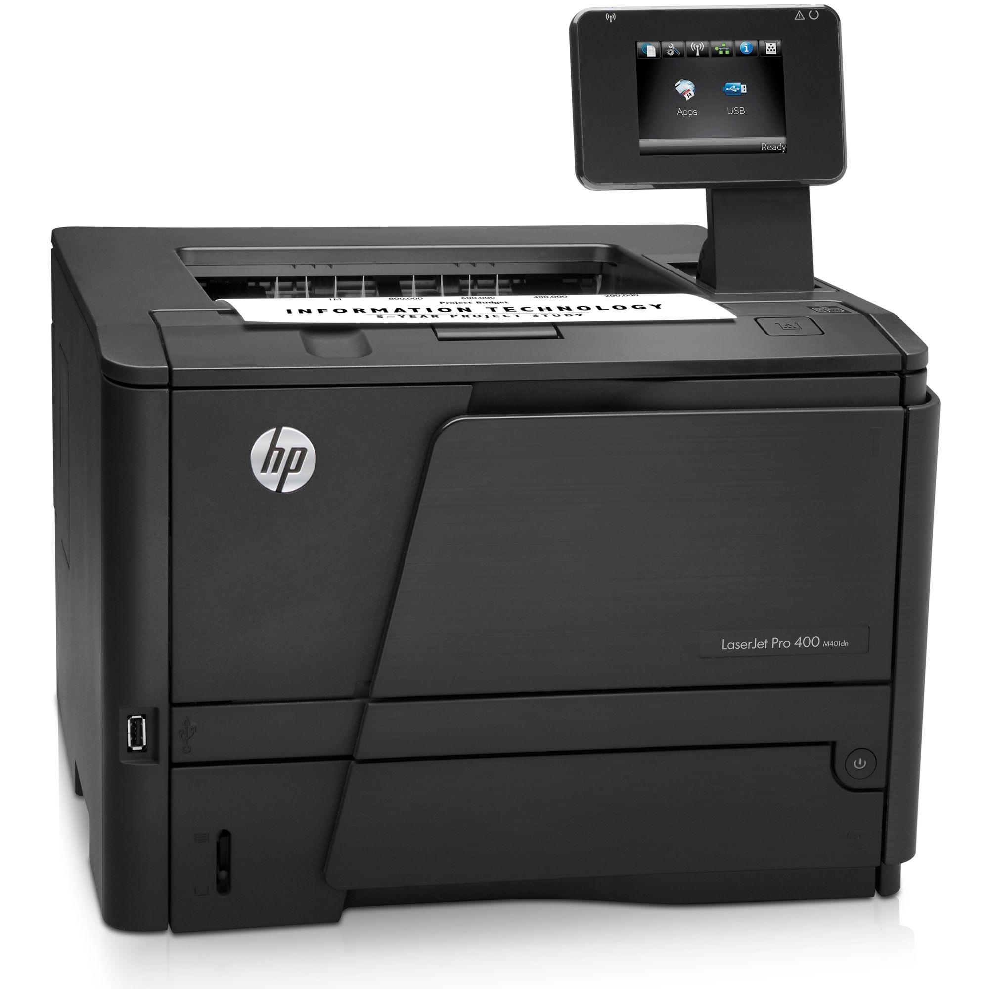 Imprimanta Laser Monocrom HP 400 M401DN, Touchscreen, USB, Duplex, Retea, 1200x1200 dpi, 35 ppm