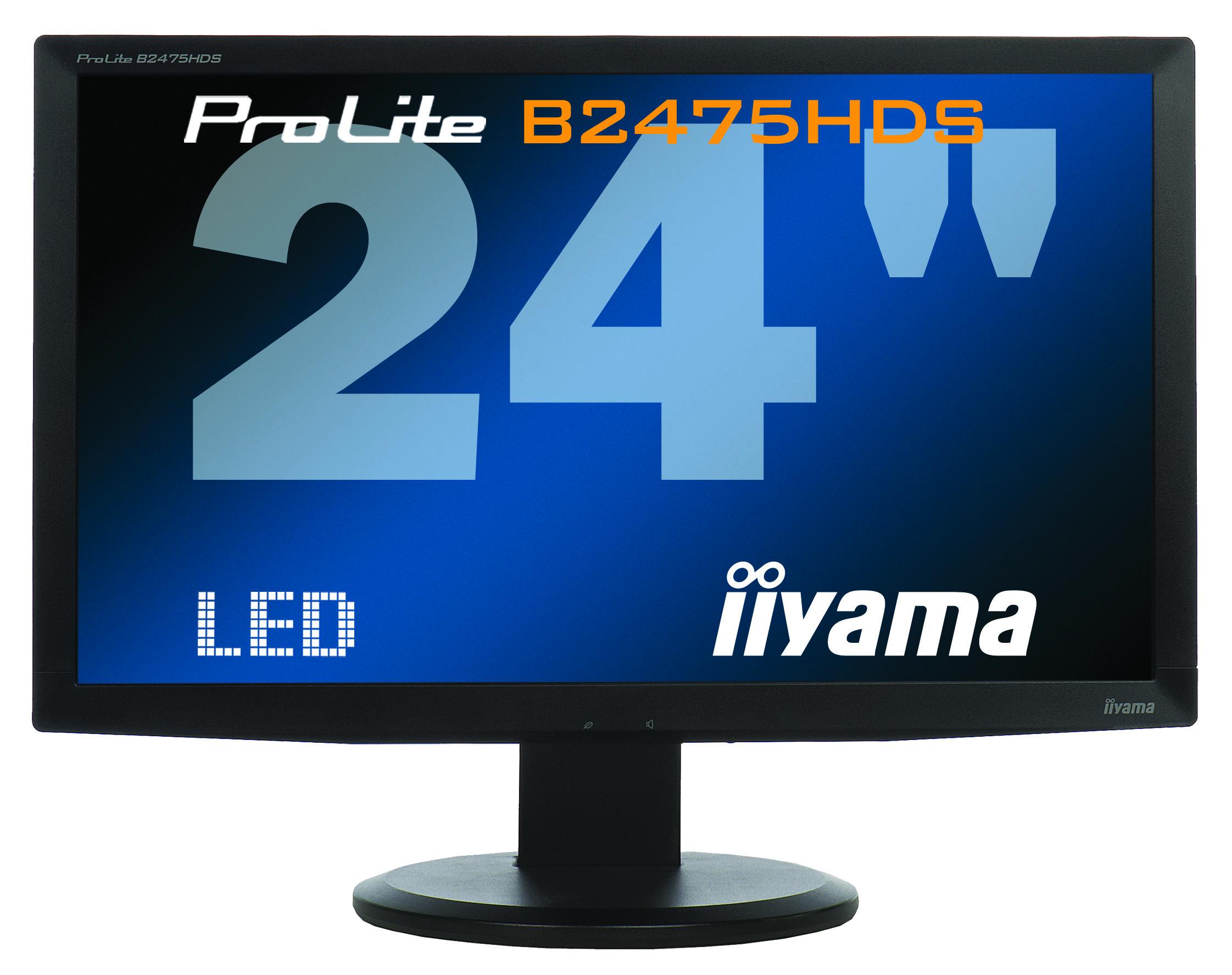Monitor LED iiYama ProLite B2475HDS, 24 Inch Full HD, VGA, DVI, HDMI